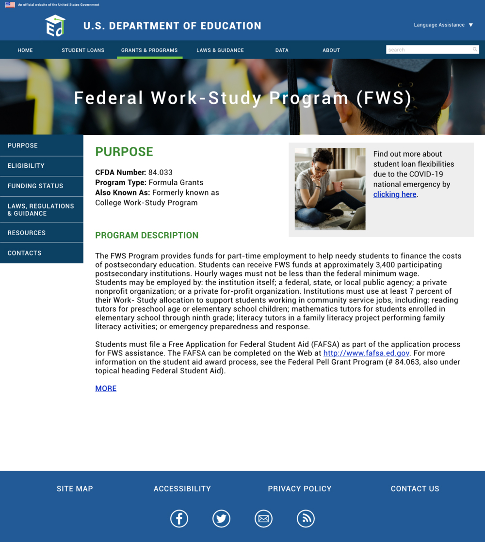 Federal Work Study Page