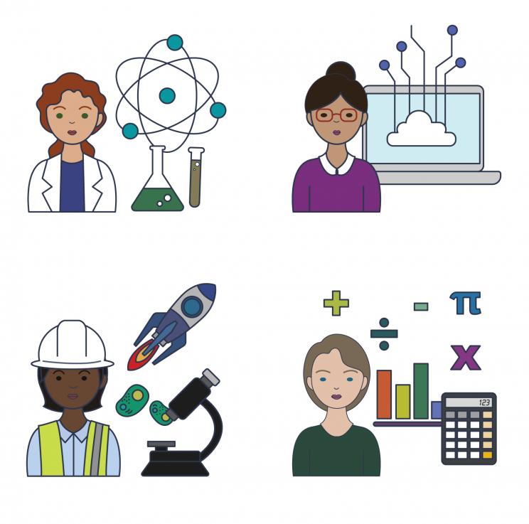 Women in STEM icons
