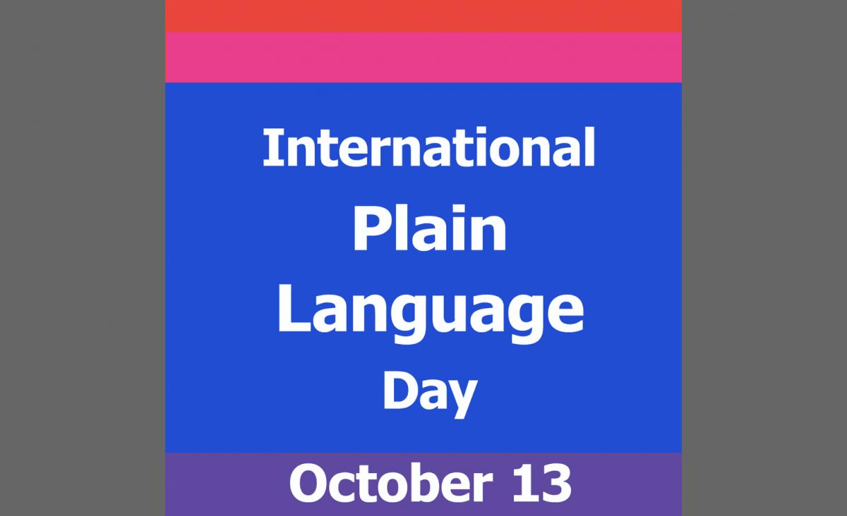International Plain Language Day October 13